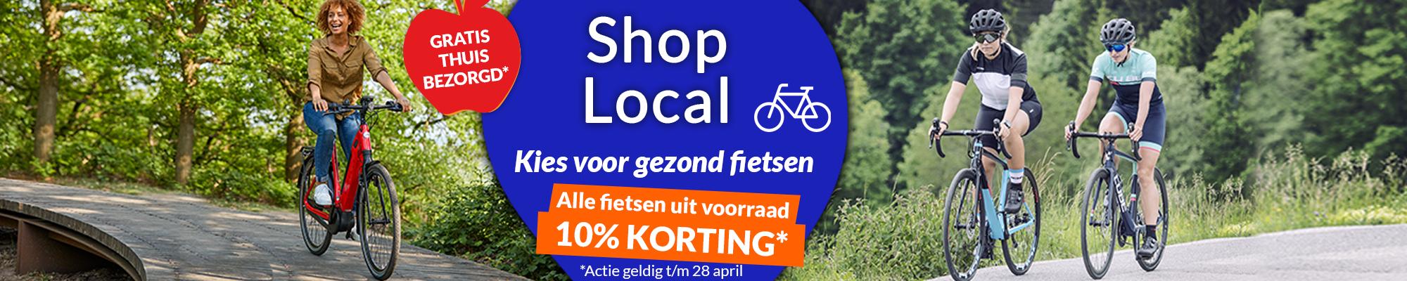 Sportief op de fiets met 10% korting en gratis bezorging